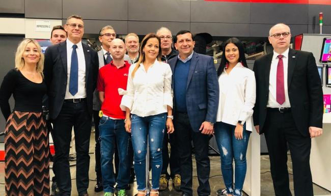 Uteco and Flexpack people at Flexo 2019 event in Colombia
