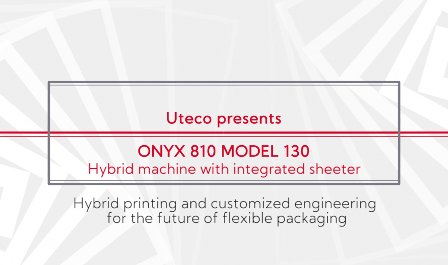 UTECO | Webinar on the new hybrid version of Onyx 810 mod. 130 machine with downstream and Sheeter